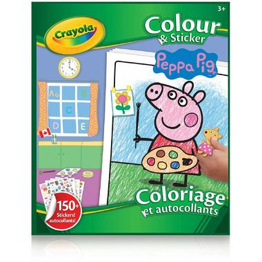 Crayola Colour & Sticker Book Peppa Pig