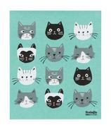 Now Designs Ecologie Swedish Sponge Towel Cats Meow