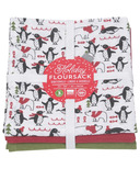 Now Designs Floursack Tea Towel Set Penguin Popper