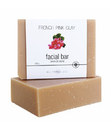 All Things Jill French Pink Clay Facial Bar Soap