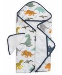 Little Unicorn Cotton Hooded Towel & Wash Cloth Set Dino Friends