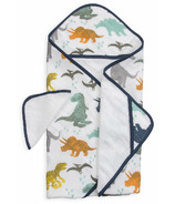 Little Unicorn Cotton Hooded Towel & Wash Cloth Set Dino Friends