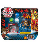 Bakugan Battle Pack Aurelus Cloptor and Pyrus Trhyno Cards and Figures