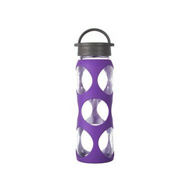 Lifefactory Glass Bottle Grey Classic Cap & Concord Ion Silicone Sleeve