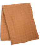 Lulujo Swaddle Blanket Bamboo Cotton Tan