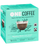 OneCoffee Organic Single Serve Coffee Sumatran Blend Dark Roast