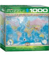Casse-tête Carte du monde Eurographics