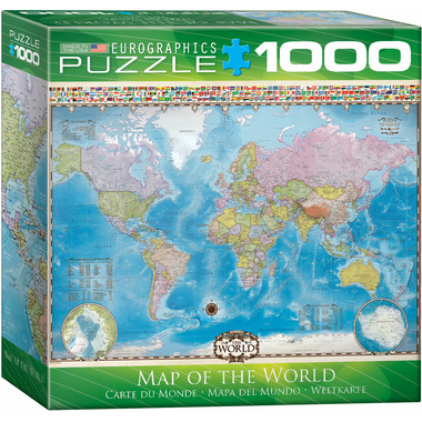 Map Of Canada Puzzle.Eurographics Map Of The World Puzzle