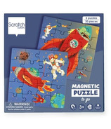Scratch Magnetic Puzzle Book To Go Space