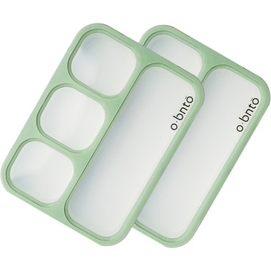 o bnto Bento Box 4 Compartment Moss Green Value Pack