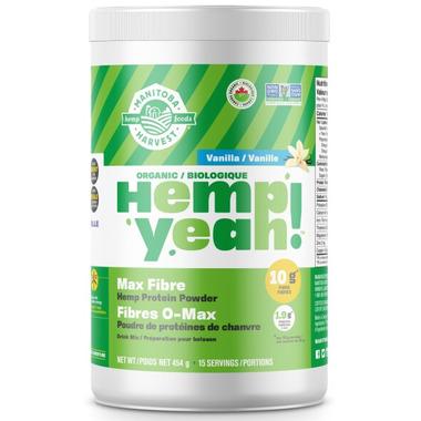 Manitoba Harvest Hemp Yeah! Max Fibre Protein Powder Vanilla