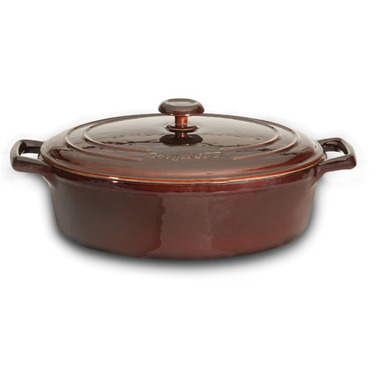 BergHOFF Neo Cast Iron Round Covered Casserole 10 Inch Brown