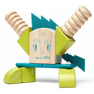 Tegu Magnetic Wooden Blocks Set Zip Zap