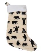 Hatley Fleece Christmas Stocking Black Bears
