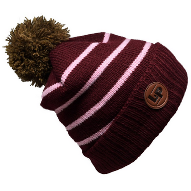 L&P Apparel Aspen Winter Hat Burgundy & Pink