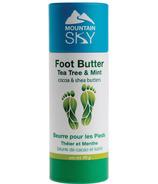 Mountain Sky Soaps Foot Butter Tea Tree & Mint