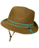 Calikids Dad & Me Straw Hat Blue & Green Combo Kid Sized