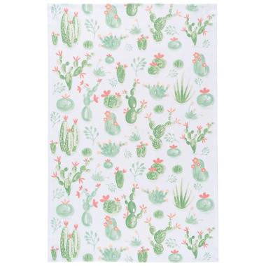 Now Design Cacti Printed Tea Towel