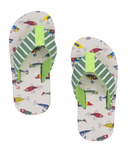 Hatley Little Blue House Kids Flip Flops Gone Fishing
