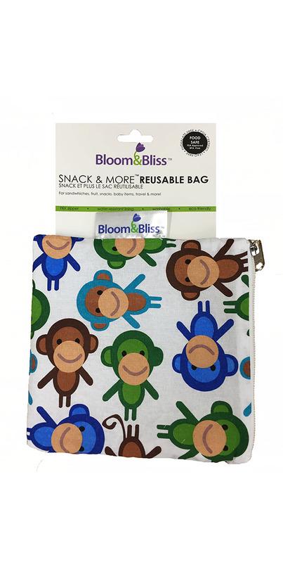 Buy Bloom & Bliss Snack Bag & More Reusable Bag Monkey ...