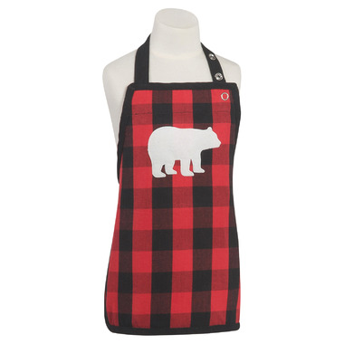 Now Designs Buffalo Check Bear Kids Apron