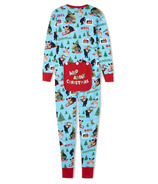 Hatley Adult Union Suit Wild About Christmas