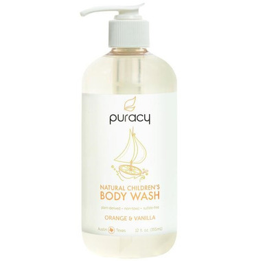Puracy Natural Children\'s Body Wash Orange and Vanilla