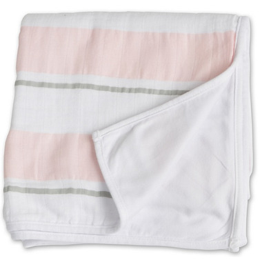 Lulujo Baby My Childhood Blanket Pink Bold Stripe