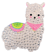 iScream Llama Rhinestone Decal