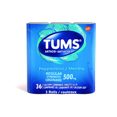 Tums Regular Strength Peppermint