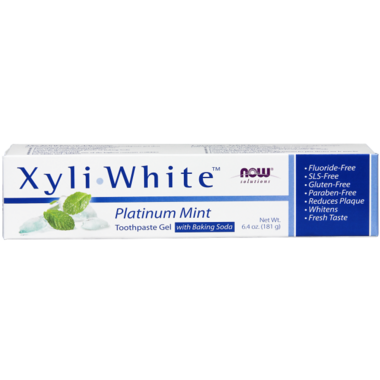 NOW Solutions XyliWhite Platinum Mint Toothpaste Gel