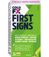 COLD-FX premiers signes avec echinacea et andrographis