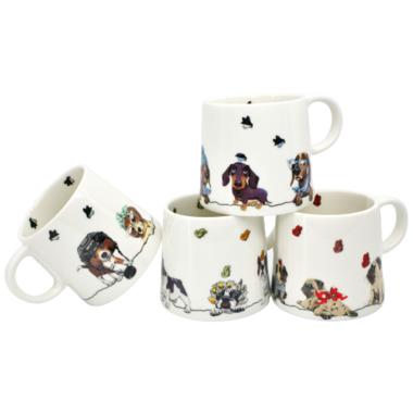 BIA Paws Cafe Dog Mugs