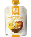 Love Child Organics Pouch with Bananas & Apples & Pumpkin + Coconut Cream