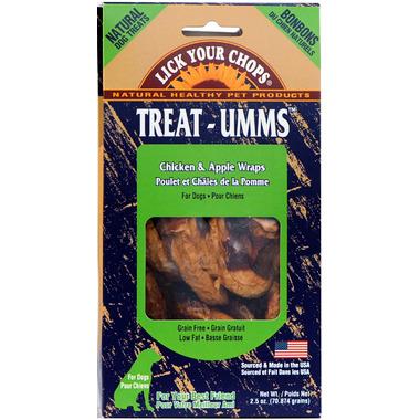Lick Your Chops Treat-Umms Chicken & Apple Wraps Dog Treats