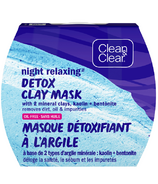 Clean & Clear Night Detox Face Mask, Kaolin and Bentonite Clay