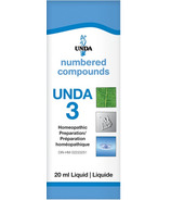 UNDA Numbered Compounds UNDA 3 Homeopathic Preparation