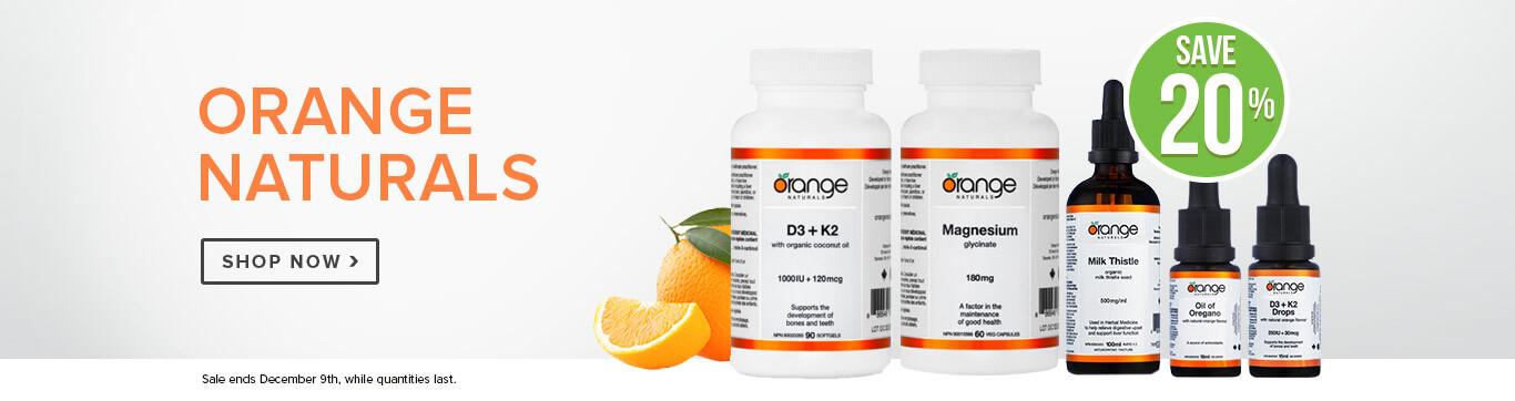 Save 20% on Orange Naturals