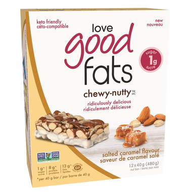 Love Good Fats Chewy Nutty Salted Caramel Bar Case