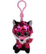 Ty Flippables Jewel the Pink Fox Sequin Clip