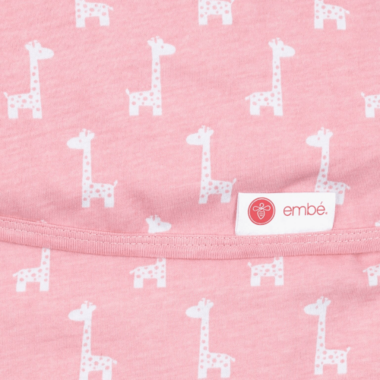 Embe Classic 2-Way Swaddle Pink Giraffe