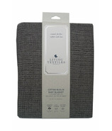 Living Textiles Grey Cotton Textured Blanket