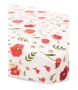 Little Unicorn Cotton Muslin Fitted Sheet Summer Poppy