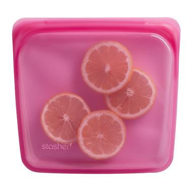 Stasher Reusable Storage Bag Raspberry