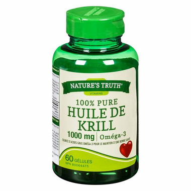 Nature\'s Truth Vitamins 100% Pure Krill Oil Omega-3 1000 mg