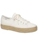 Keds Women's Triple Kick Canvas Jute Platform Sneaker White