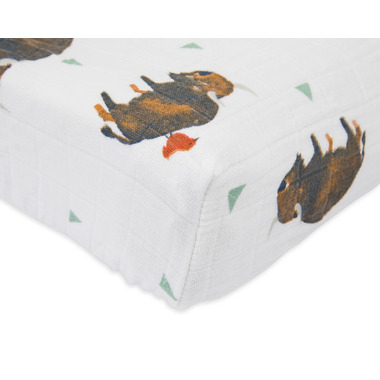 Little Unicorn Cotton Muslin Changing Pad Cover Bison