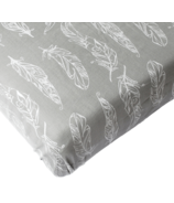 Nest Designs Fitted Crib Sheets Feather Grey