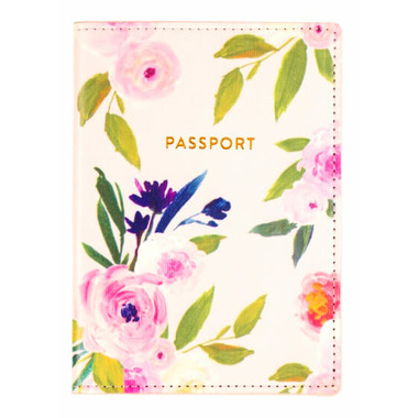 Eccolo Passport Case Floral