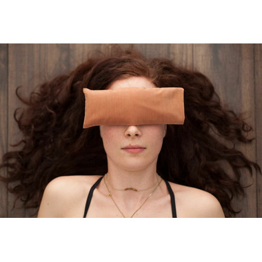 SamYoga Lavender Scented Eye Pillow Solid Orange